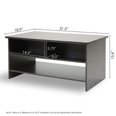 FURINNO 10003EX/BR ESPRESSO FINISH LIVING SET, CENTER COFFEE TABLE WITH 4  BIN