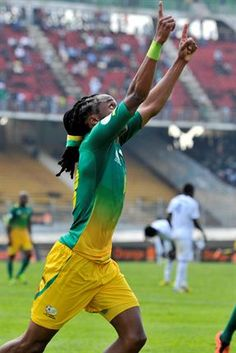 Bafana Bafana vs CAR | Siphiwe Tshabalala celebrates after scoring. | Photo: AFP PHOTO/ISSOUF SANOGO/Gallo Images / Sport24