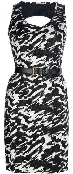 Michael Kors Black Printed Dress
