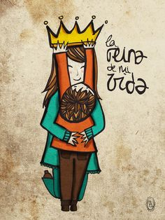 la reina de mi vida dia de la madre maternidad por vireta en Etsy, €22.00