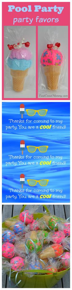 THREE adorable party favor / goodie bag/ loot bag ideas... with FREE printable tags. Super cute!!!!
