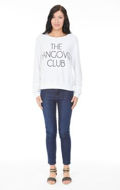 Wildfox Hangover Club sweater V Neck Tee b956efb3a