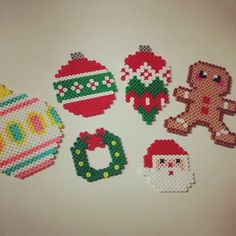 Christmas ornaments perler beads by julia8921