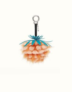 FENDI FRUITS CHARM - Charm in orange fur. Discover the new collections on Fendi official website. Ref: 7AR577OZEF09GR