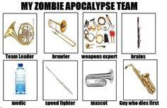 Musical Zombie Apocalypse Team