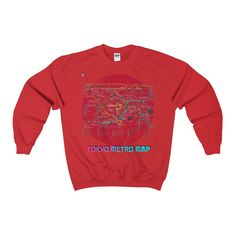Tokyo Metro Map Heavy Blend™ Adult Crewneck Sweatshirt