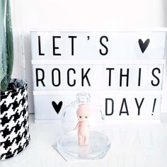 Let's rock this day!me/shopthelook Lightbox Letters, Lightbox Quotes, Message Light Box, Cinema Box, Home Office, Licht Box, Work Cubicle, Led Light Box, Light Board