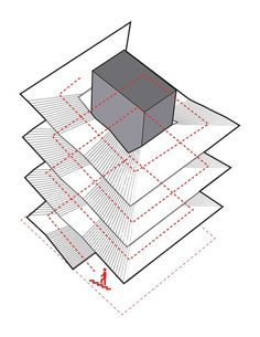Cultural Center in Guadalajara Competition Entry,circulation in the monumental staircase diagram