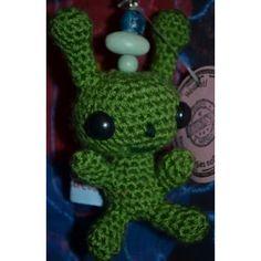 Schlüsselanhänger Alien Pit, grün