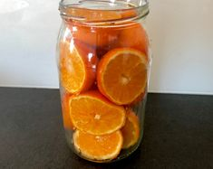 Świąteczny likier mandarynkowy - Blog z apetytem Grapefruit, Mason Jars, Food And Drink, Orange, Baking, Drinks, Christmas, Blog, Tatoo