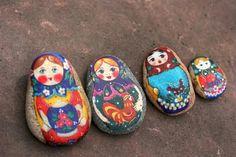 Handmade stone matryoshkas