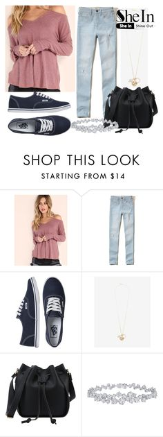 """""""SheIn Shirt"""" by horselover35125 ❤ liked on Polyvore featuring Hollister Co., Vans, Express, Harry Winston and shein"""
