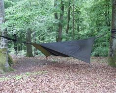This is how to sleep out in the woods! Nothin better than a Hennessy Hammock Expedition