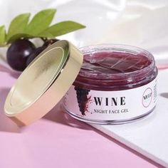 Wine Night Gel | Whitening Cream For Glowing Skin In 30's & 40's– Nicci Skin Care How To Reduce Pimples, Best Night Cream, Wine Night, Good Massage, Face Lotion, Best Face Products, Beauty Care, Whitening, Moisturizer