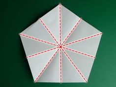 Folding the base for a pentagon (to fold a five point star)