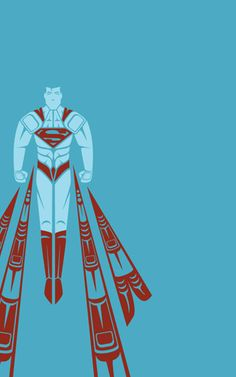 Superman By Jeffrey Veregge - Epic Superhero Art in a Traditional Native American Style ! Native American Design, Native American Artists, Native American Fashion, American Traditional, Traditional Art, Comic Book Heroes, Comic Books Art, Wallpaper Bonitos, Hero Marvel