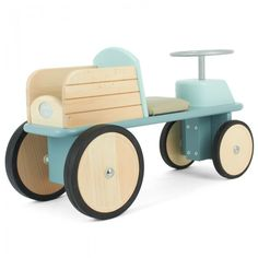 They will love to ride this Moulin Roty Blue Wooden Truck