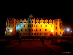 Celle Palace at night, Germany