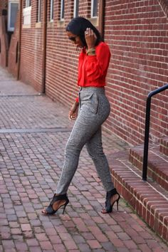 DIY high waisted cropped wool pant-Beaute' J'adore