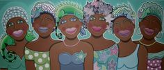 Daman Dushi Friends pastel India, Mothers Love, Black Is Beautiful, African Art, Amazing Art, Caribbean, Sisters, Friends, Acrylics