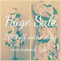 Huge sale happening now. 20% off entire store. Limited time only. No coupon code needed.  etsy.com/shop/VeronaVintageJewels