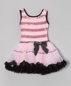Another great find on #zulily! Pink & Black Stripe Dress - Infant, Toddler & Girls #zulilyfinds