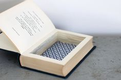 DIY Book jewellery box. I remember this from Art Attack, never thought you could sell it.