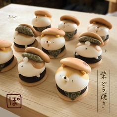 Japanese Snacks, Japanese Sweets, Japanese Food, Cute Snacks, Cute Desserts, Dessert Recipes, Desserts Japonais, Comida Picnic, Kreative Desserts
