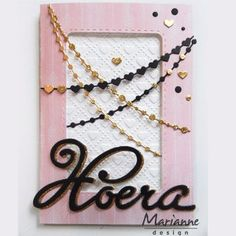 zelf de leukste kaarten maken met de producten van Marianne Design Marianne Design, Bobby Pins, Arrow Necklace, Hair Accessories, Chain, Cards, Jewelry, Jewlery, Jewerly