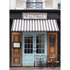 Paris Cafe Photograph, Malabar Cafe, Large Wall Art, French Kitchen... ❤ liked on Polyvore featuring home, home decor, wall art, french home decor, french wall art, malabar, photo wall art and parisian home decor
