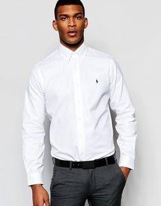 Polo Ralph Lauren | Polo Ralph Lauren Shirt In Regular Fit White Cotton Twill at ASOS