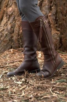 Picture of Spanish Riding Boots classic: Brown (flat sole)