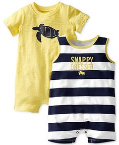 Carter's Baby Boys' 2-Pack Rompers 13 usd