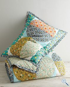 Shop Garnet Hill for delightful designs in clothing, bedding and home decor. Garnet Hill Kids, a spirited collection of girls' clothing and kids' bedding. Quilted Curtains, Half Moon Bay, Cute Quilts, Big Girl Rooms, The Ranch, Kids Room, Throw Pillows, Crafty, Quilting Ideas