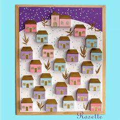 Risultati immagini per zimní městečko ve výtvarce Christmas Projects, Christmas Crafts, Christmas Decorations, Advent Wreath, School Art Projects, Preschool Themes, Art Plastique, Winter, Holiday Gifts