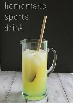 How to Make a Homemade Sports Drink in 5 simple ingredients.