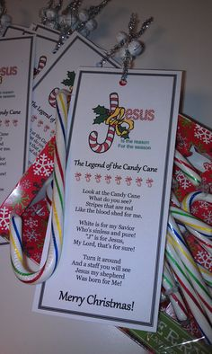 Made these cute bookmarks for my AWANA Cubbies group for Christmas!