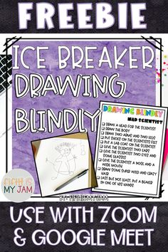 FREE Ice Breaker Activity for Digital Learning FREE Ice Breaker Activity for Digital Learning Have you ever played a game of directed drawing? Home Learning, Learning Resources, Fun Learning, Teacher Resources, Blended Learning, Beginning Of School, First Day Of School, Middle School, Pre School