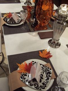 Thanksgiving Glam - 15 Stylish Thanksgiving Table Settings on HGTV
