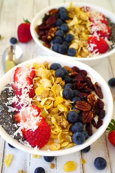 Honey Oats and Berries Breakfast Bowl << Happiness Is Homemade