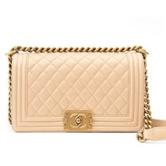 8946e85938 Labellov Chanel Pearl Beige Calfskin Medium Boy Bag ○ Buy and Sell  Authentic Luxury
