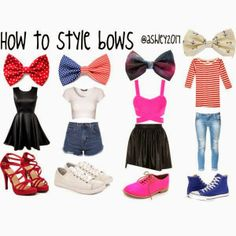 How to style bows ♥♥♥
