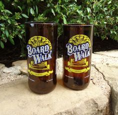 These used to be beer bottles!  Recycled Beer Bottle Glasses made from Left Coast beer bottles.  Set of 2 $30.00
