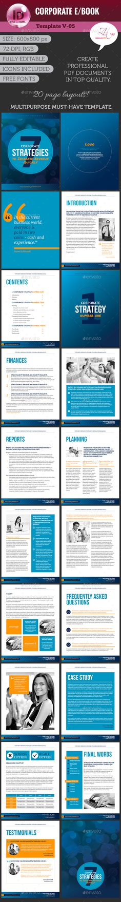 Corporate ebook template template book layouts and business flyers corporate ebook v 05 digital books epublishing fandeluxe Gallery