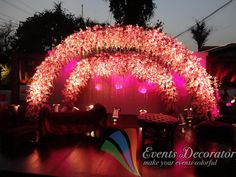 For Stage Decoration Visit this site.   http://eventsdecorator.com/gallery/stage-decoration.html