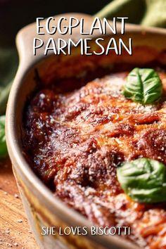 Eggplant Dishes, Baked Eggplant, Eggplant Parmesan, Eggplant Recipes, Best Vegetable Recipes, Vegetarian Recipes, Cooking Recipes, Veg Dishes, Food Dishes