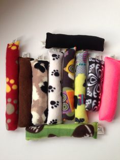 10 Fleece Stuffed Toys  cat toys  dog toys  pet by ComfyPetPads, $20.00
