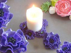 Tutoriel Porcelaine froide : fleurs mauves () - Femme2decoTV