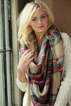Tartan Plaid Blanket Scarves