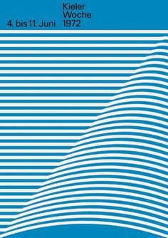 Hans Peter Hoch — Kieler Woche, unused entry on Designspiration Design Visual, Graphisches Design, Book Design, Layout Design, Print Design, Op Art, Corporate Design, International Typographic Style, Hans Peter